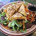 Salade avec végé-pâté