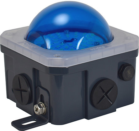 10-Watt Junction Box Blue Poly-carbonate lens