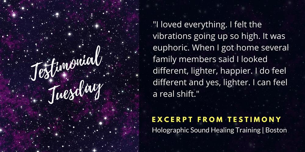 Holographic Sound Healing Testimony