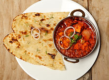 Indian Food or Indian Curry in a copper