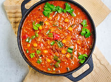 Vegan Indian cuisine, Spicy Chick Peas i