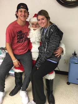 Hannah Roman and santa