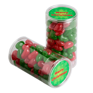 PET Tube filled with CHRISTMAS Jelly Bea