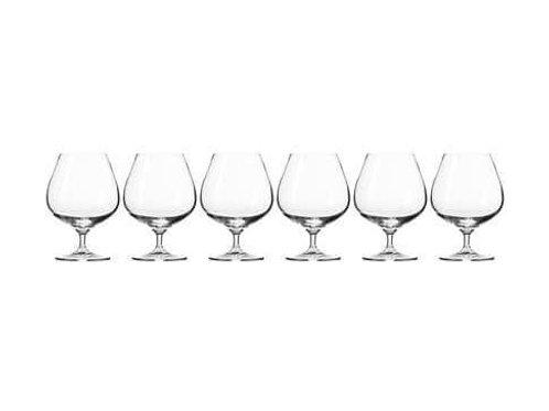 Krosno Harmony Cognac Glass 550ML 6pc Gift Boxed