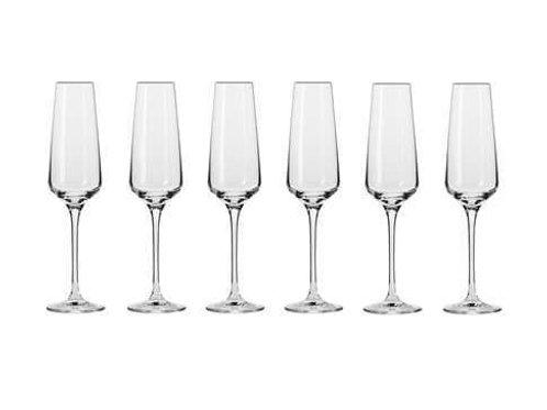 Krosno Avant-Garde Champagne Flute 180ML 6pc Gift Boxed