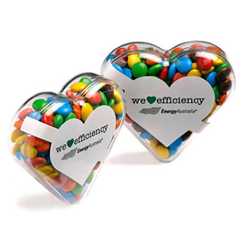 Acrylic Heart With M&Ms
