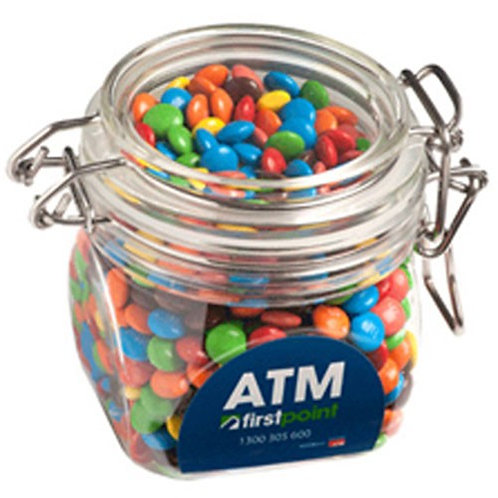 Canister with Mini M&Ms
