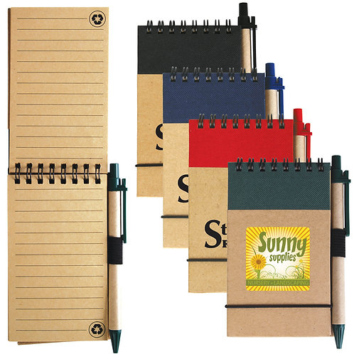 Tradie Cardboard Notebook with Pen