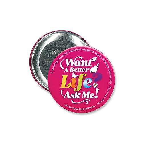 Button Badge Round - 90mm