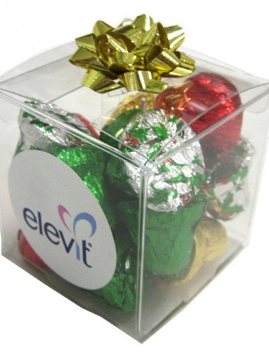 Cube filled with Christmas Chocolates 60