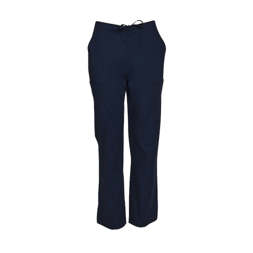 Semi Elastic Waist Solid Scrub Pants Mens