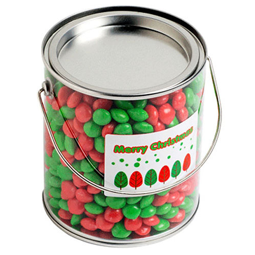 Big PVC Bucket filled with Christmas CHEWY Fruits 950G
