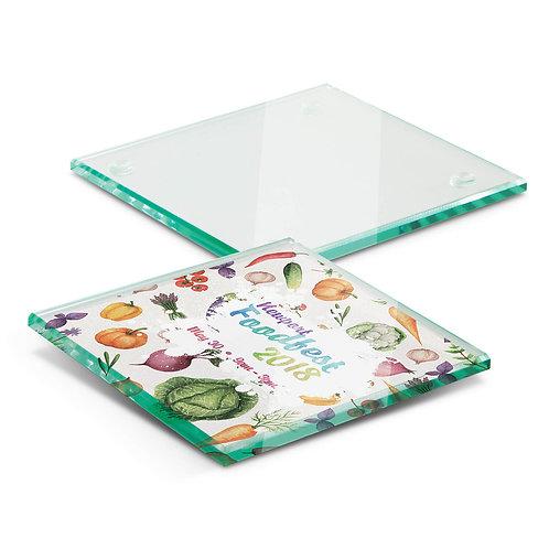 Single Glass Coaster - Full Colour