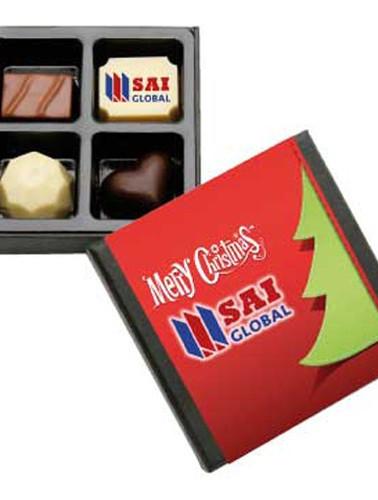 4PC BELGIAN CHOCOLATE BLACK GIFT BOX WIT
