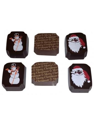 4PC SANTA AND SNOWMAN CHOCOLATE GIFT BOX
