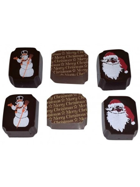 4pc Santa and Snowman Chocolate Gift Box made with Premium Belgian Chocolate