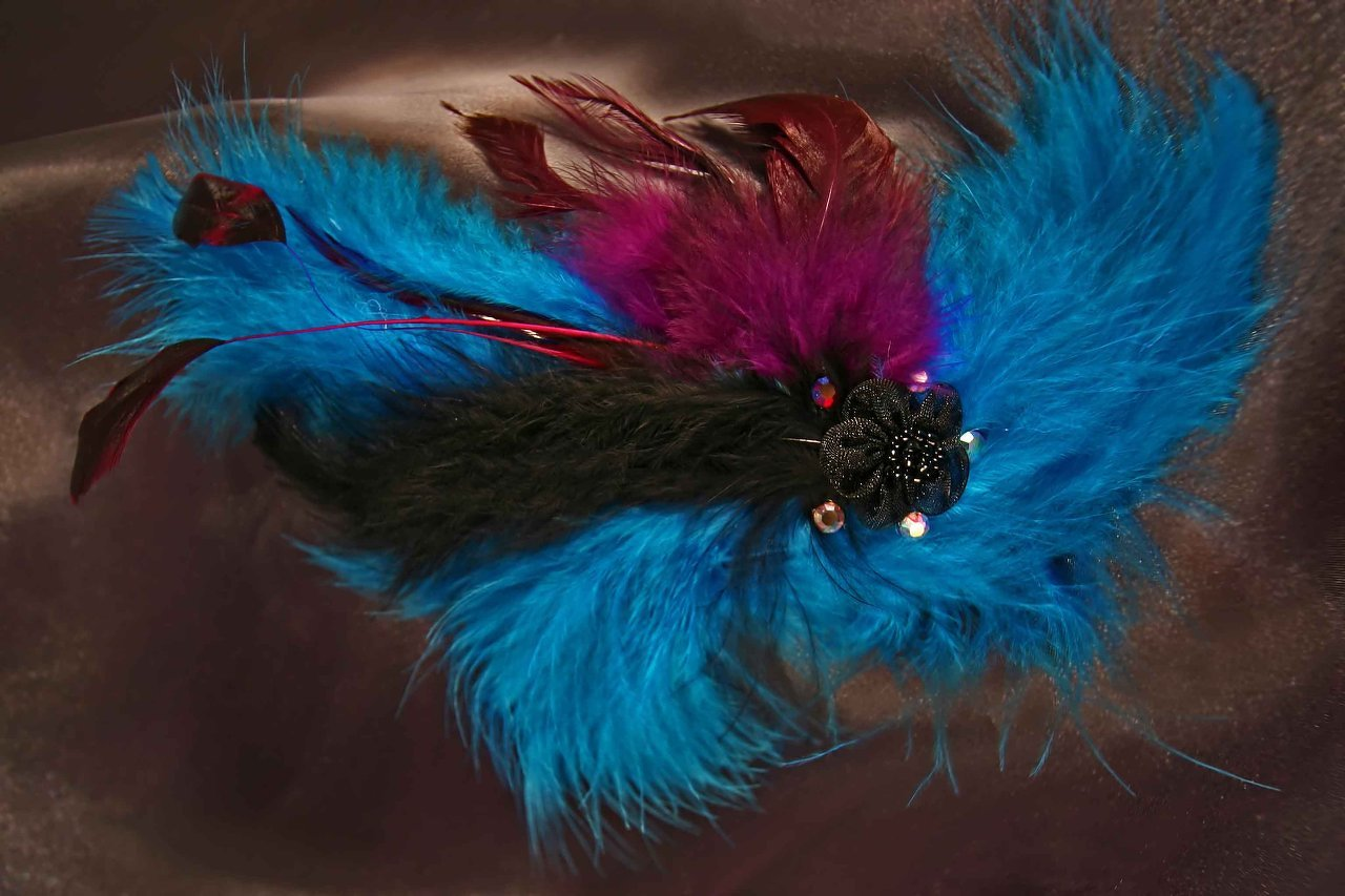 $20 Mini Feather Fascinator -Mixed Colours Available in a Variety of Shapes and
