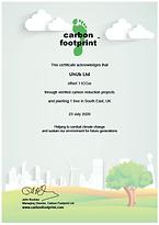 UK Tree Planting Scheme Certificate 2020