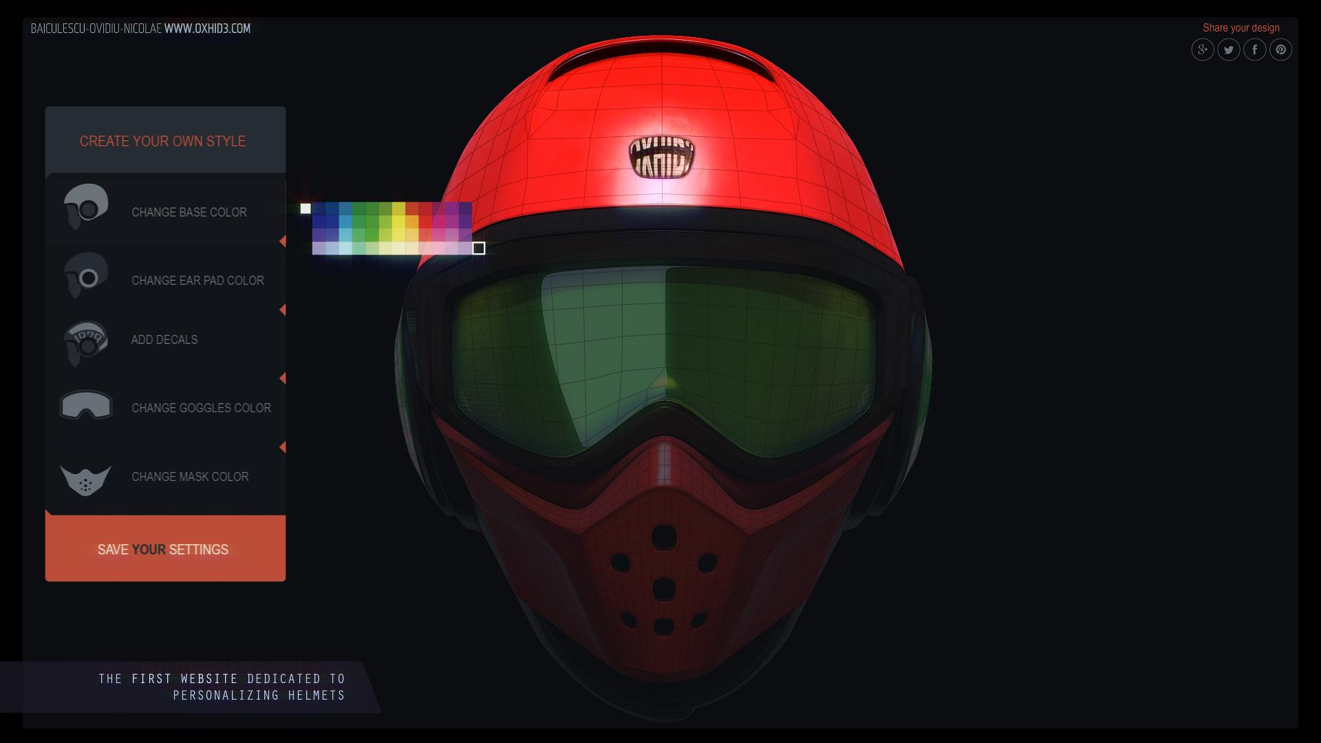 Helmet web platform