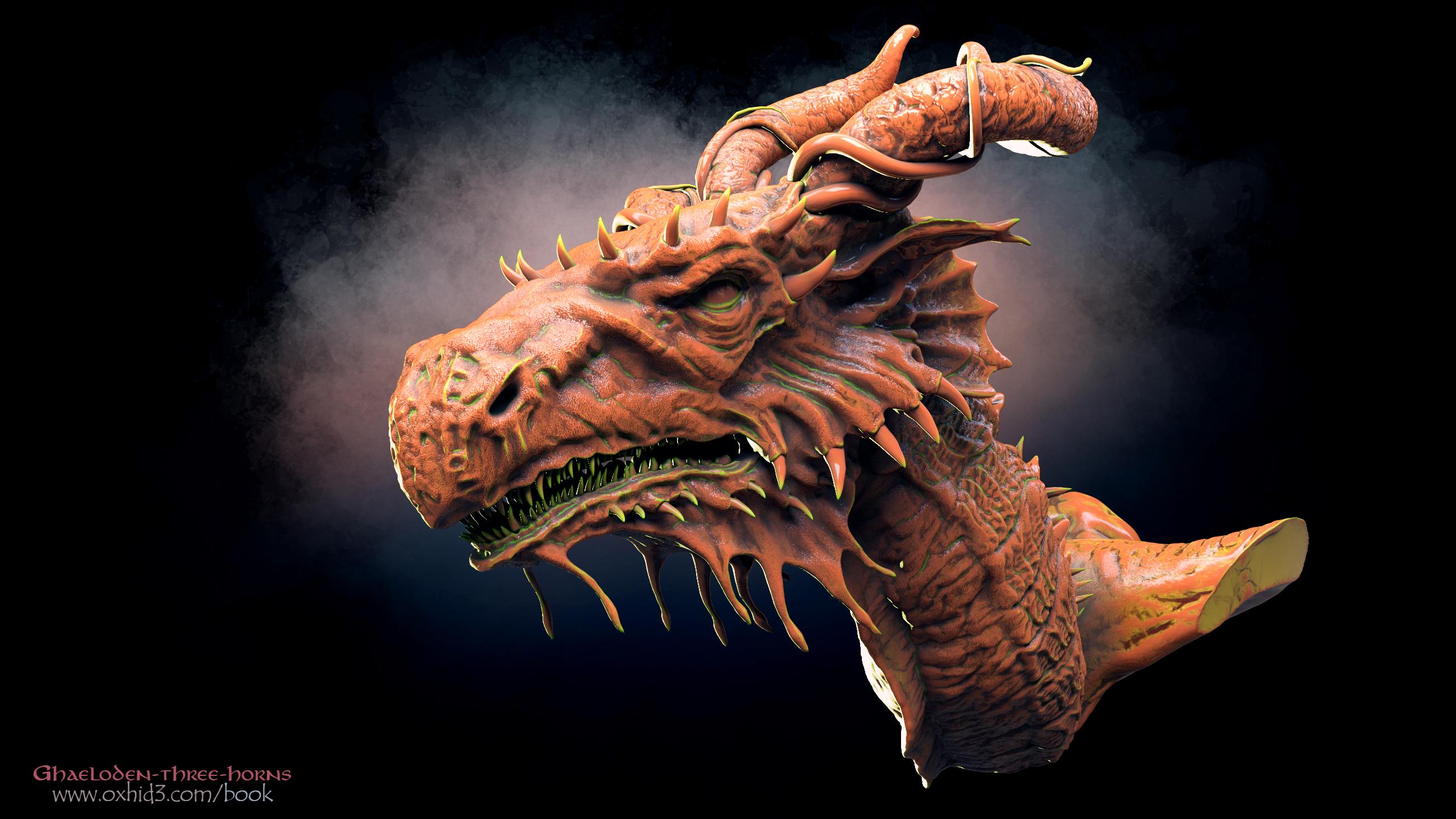 Ghaeloden-three-horns, the dragon