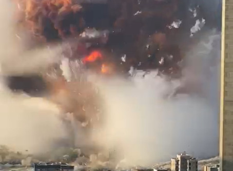 Two huge explosions rock Beirut