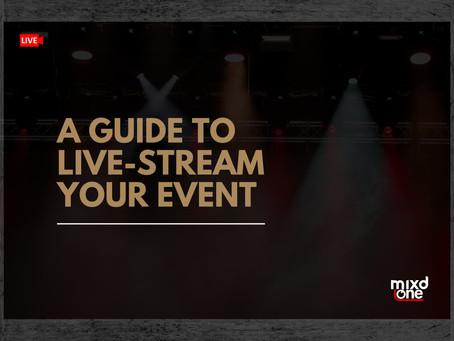 A guide to setup a live stream event/concert from home