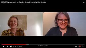 Karin Hohenegger, rechts im Bild, Sylvia Häusler, online-Gespräch