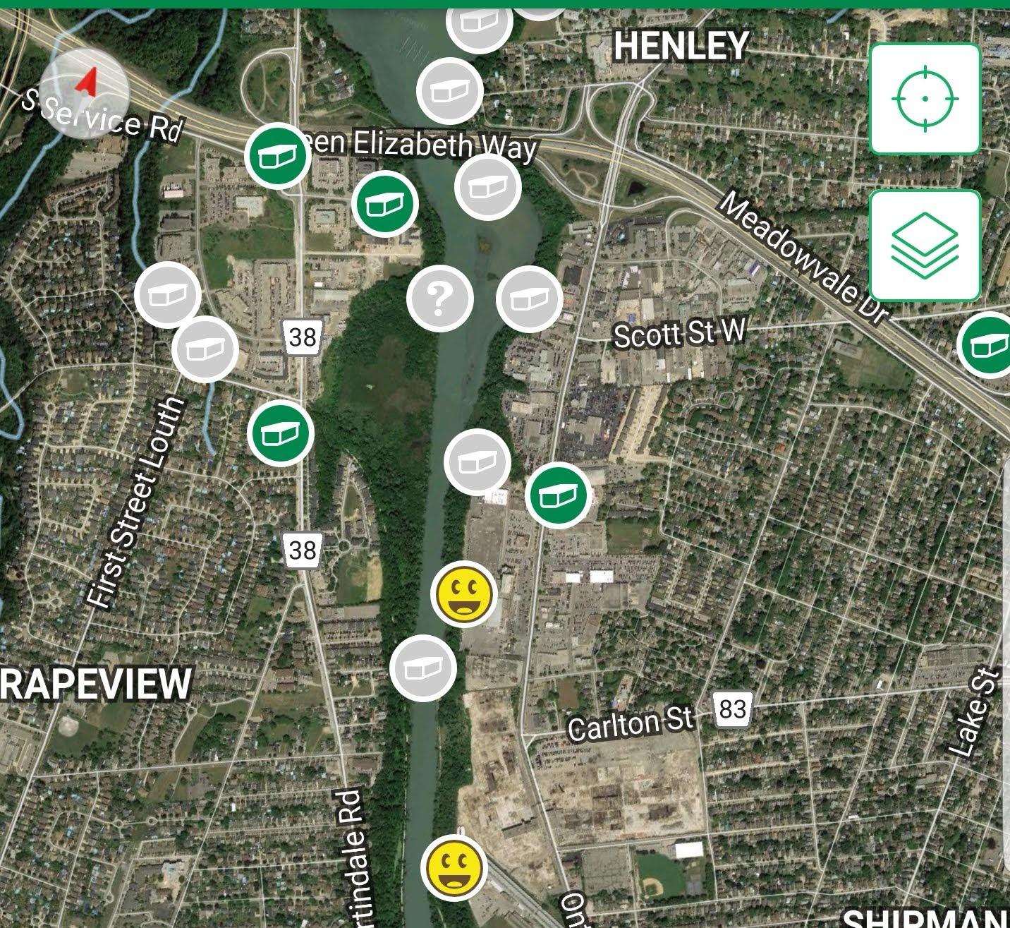 Geocache map