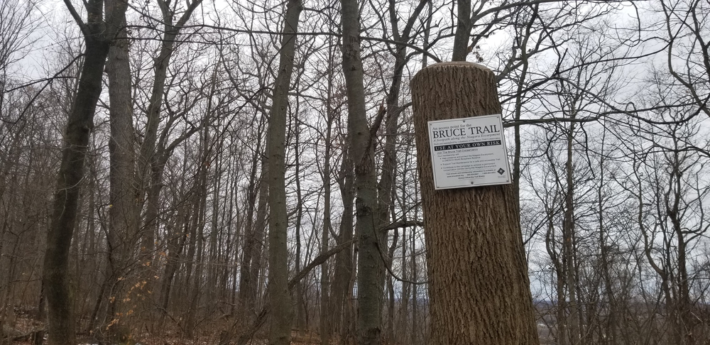 Bruce Trail access point sign