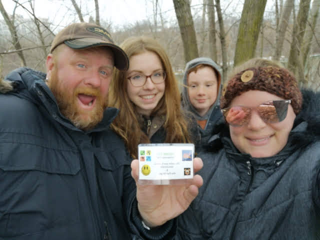 family pic with geocache