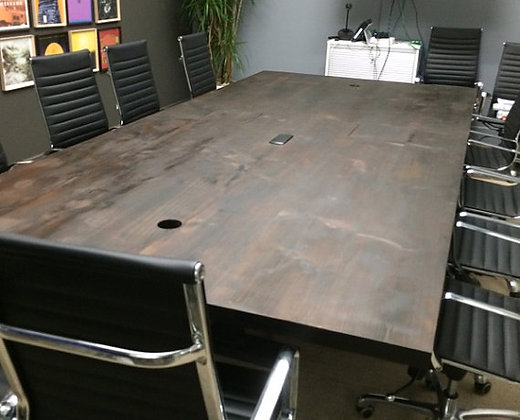 Custom Solid Wood Conference Table