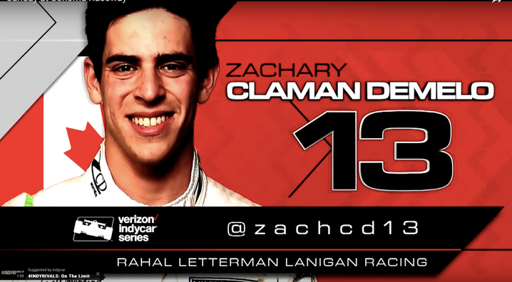 CLAMAN DEMELO TO MAKE SERIES DEBUT WITH TEAM RAHAL LETTERMAN LANIGAN