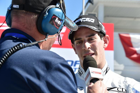 ZCD ON HIS FIRST DAY IN INDYCAR