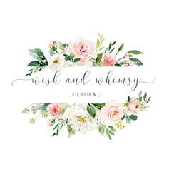 Wish and Whimsy Floral Logo