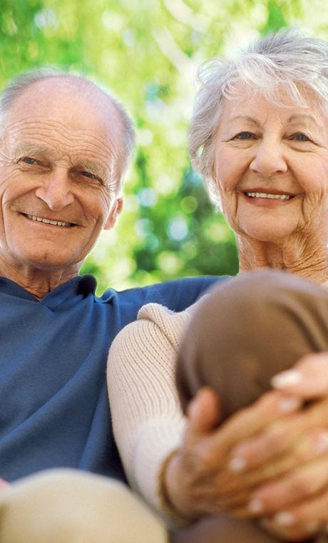 glada seniorer