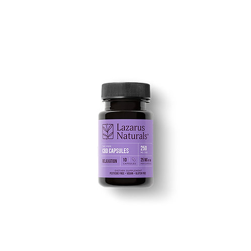 Relaxation Blend 25mg CBD Capsules (10 Count)