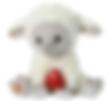 lamb stuffed animal with baby heartbeat