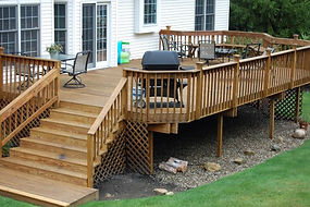 Custom Wood Deck Grill Westfield MA