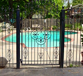 Custom Wrought Iron Gate for Pool