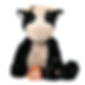 cow stuffed animal with baby heartbeat