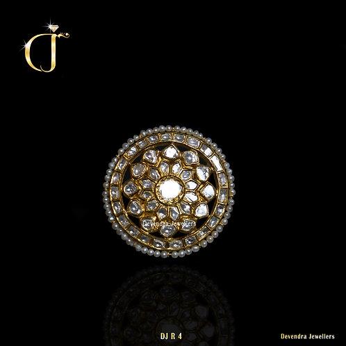 Polki Pearls Ring