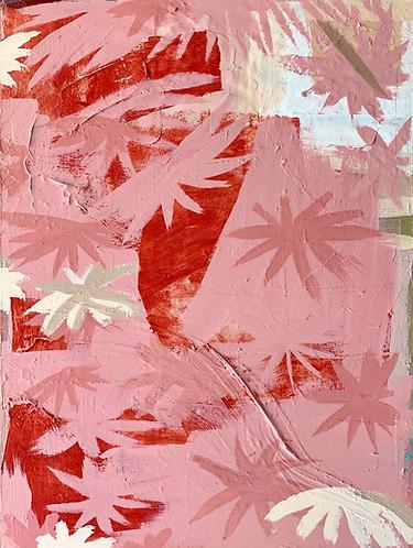 'Pink Palms 01' (900mmx800mm)