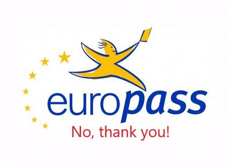 Το Europass δεν είναι φίλος σου