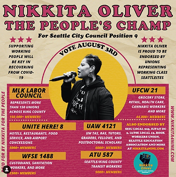 Nikkita Oliver the People's Champ Poster