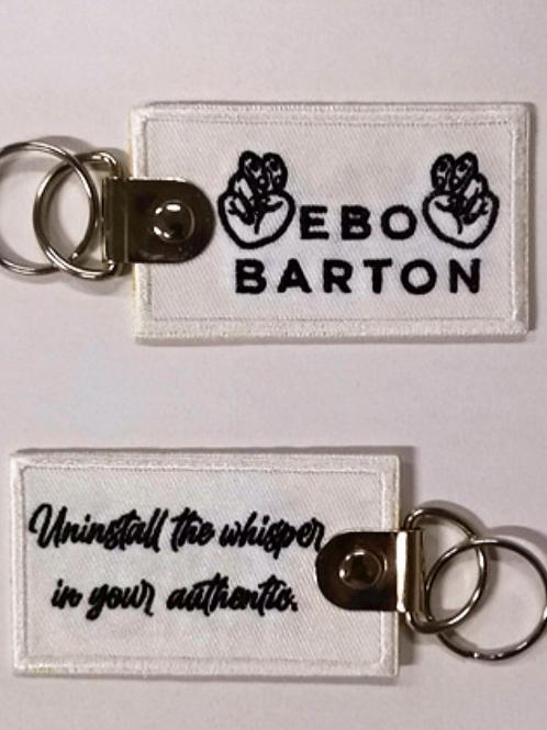Embroidered Bookmark Keychain