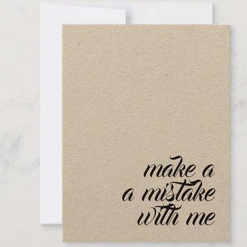 Mistake Postcard