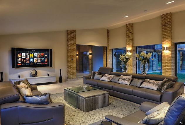 Obývací pokoj s inteligentní řízením