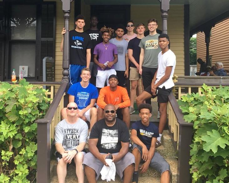 The Powerhouse Hoops NE Elite U17 squad visiting MLK's birth home in Atlanta, GA.