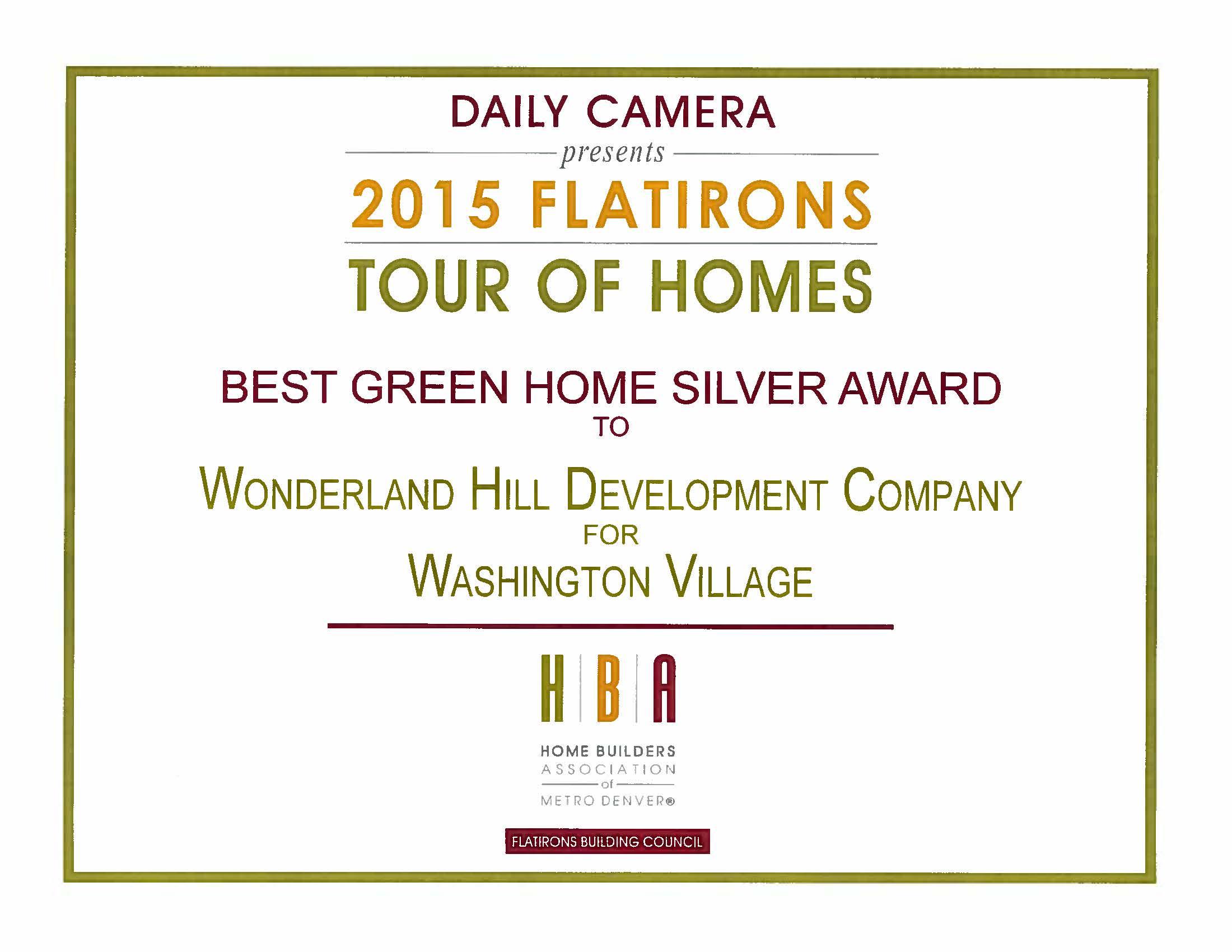 2015 Flatirons Tour of Homes
