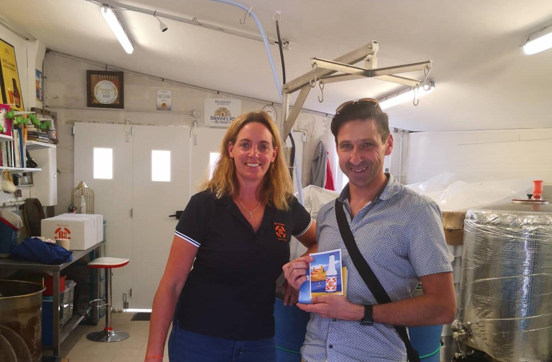 """petite visite chez notre ami solenne de la B06- bières d'Antibes""""membre du Collège Culinaire de France. Dégustation et départ les bras chargés"""